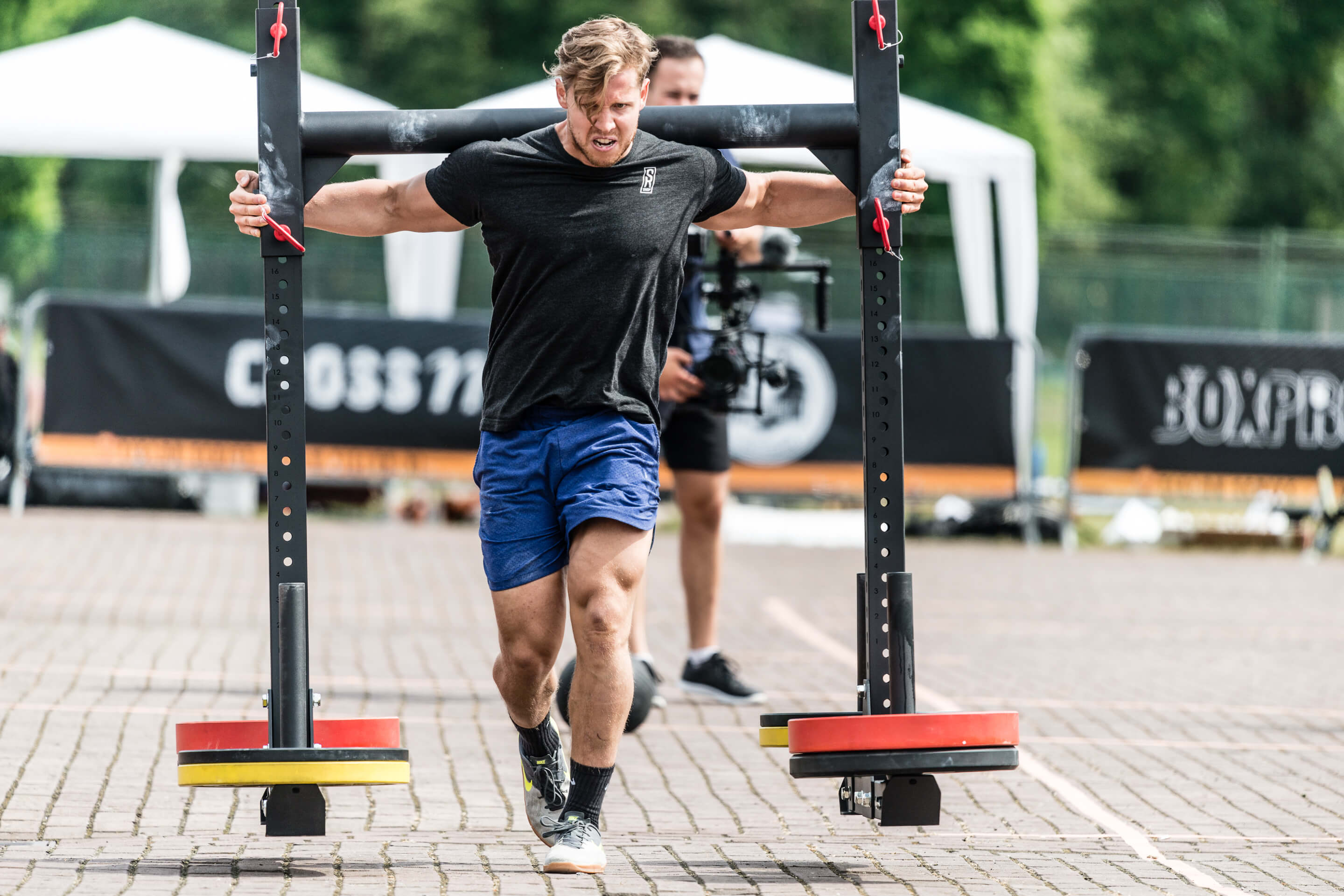 Niklas tijdens de Tiglon Series workout 3